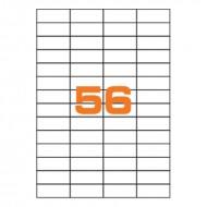 Etichette Permanenti 52.5x21.2mm 56 Adesivi 100 Fogli Premium - Finlogic A452.521.2