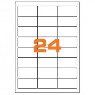 Etichette Permanenti 64.6x33.8mm 24 Adesivi 100 Fogli Premium - Idlabel A464.633.8