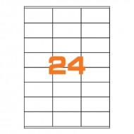 Etichette Permanenti 70x35 mm 30 Adesivi 100 Fogli A4 Premium - Idlabel A47035