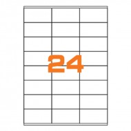 Etichette Permanenti 70x36mm 24 Adesivi 100 Fogli A4 Premium - Idlabel A47036