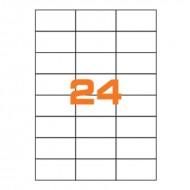 Etichette Permanenti 70x37mm 24 Adesivi 100 Fogli A4 Premium - Idlabel A47037