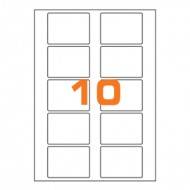 Etichette Permanenti 70x52mm 10 Adesivi 100 Fogli A4 Premium - Idlabel A47052