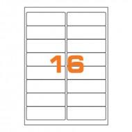 Etichette Permanenti 99.1x34mm 16 Adesivi 100 Fogli A4 Premium - Idlabel A499.134