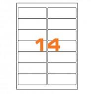 Etichette Permanenti 99.1x38.1mm 14 Adesivi 100 Fogli A4 Premium - Idlabel A499.138.1