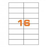 Etichette Permanenti 105x37mm 16 Adesivi 100 Fogli A4 Premium - Idlabel A410537