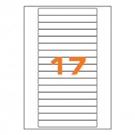Etichette Permanenti 145x17mm 17 Adesivi 100 Fogli A4 Premium - Idlabel A414517