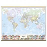 Cartina Murale Mondo con Bandierine - Belletti M09PL/07