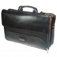 Borsa Portadocumenti/Pc Marrone in Pelle a Due Scomparti - Wiler F881M