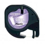 NASTRO IN PLASTICA LETRATAG 12MMX4M TRASPARENTE - Dymo 48630