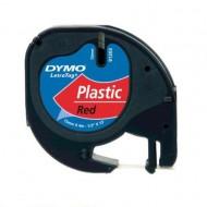NASTRO IN PLASTICA LETRATAG 12MMX4M Rosso  - Dymo 27938