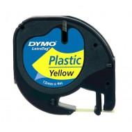 NASTRO IN PLASTICA LETRATAG 12MMX4M Giallo  - Dymo 27937