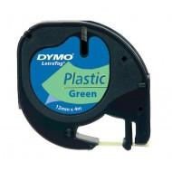 NASTRO IN PLASTICA LETRATAG 12MMX4M Verde - Dymo 27939