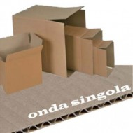 Scatola Cartone per Imballo Avana Onda Singola 304x215x164mm - Polyedra 71202
