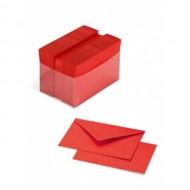 Busta Colorata con Biglietto Colore Scarlatto 9x14 - Favini 6170