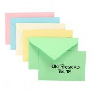 Busta 7.2x11 Colori Tenui Assortiti con Biglietto Colorato - Favini 6174