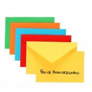 Busta 7.2x11 Colori Forti Assortiti con Biglietto Colorato - Favini 6175