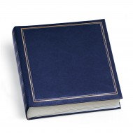 Album Copertina in Vinyl Blu - 40 Fogli - Formato cm.25x30 - 0380-BL
