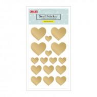 Etichette Adesive Removibili Forma Cuori Oro - Wiler STK1050