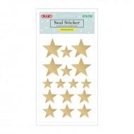 Etichette Adesive Removibili Forma Stelle Oro - Wiler STK1052