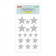 Etichette Adesive Removibili Forma Stelle Argento - Wiler STK153