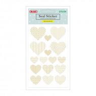 Etichette Adesive Removibili Forma Cuori Oro - Wiler STK154