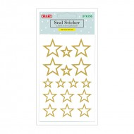 Etichette Adesive Removibili Forma Stelle Oro - Wiler STK156