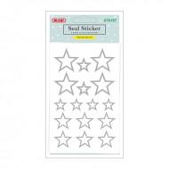 Etichette Adesive Removibili Forma Stelle Argento - Wiler STK157