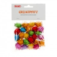 Pompon con Glitter Colori Assortiti 20mm - Wiler POM020G