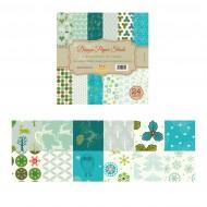"""Carta per Origami 10""""x 10"""" 230 gsm Stampa su 2 Lati - Wiler DP2301010D"""