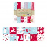 """Carta per Origami 12""""x 12"""" 230 gsm Stampa su 2 Lati - Wiler DP2301212D"""