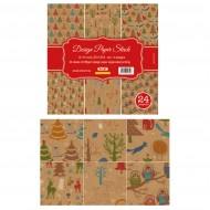 """Carta Kraft per Origami 10""""x 10"""" 250 gsm Stampa su 1 Lato - Wiler DP2501010A"""