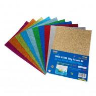 Carta Glitter  10 Fogli Colori Assortiti - Wiler GLP10