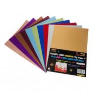 Carta Metal Sanding Autoadesiva 10 Fogli Colori Assortiti - Wiler MSP10A