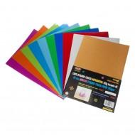 Carta Dynamic Cristal Autopadesiva 10 Fogli Colori Assortiti - Wiler DCP10A