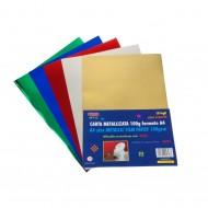 Carta Metallizzata 10 Fogli Colori Assortiti - Wiler MFP10