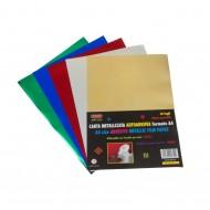 Carta Metallizzata Autoadesiva 10 Fogli Colori Assortiti - Wiler MFP10A