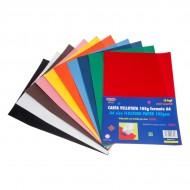 Carta Vellutata 105gr 10 Fogli Colori Assortiti - Wiler FP10