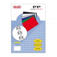 Copertine A4 per Rilegare in PP Opaco colore Blu - spessore mm.0,3 - CO3PPBL