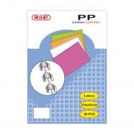 Copertine in PP Trasparente Colore Rosso per Rilegare - spessore mm.0,4 - CT04PPR