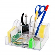 Desk Organizer in ABS con Dispenserr nastri adesivi da 33 Mt - Lebez 80180