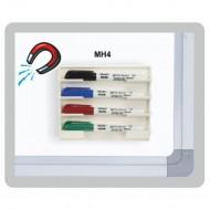 Portapennarelli  Magnetico per Lavagna Bianca - MH4
