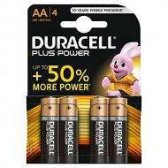Duracell Plus Power Batterie Alcaline Stilo AA Confezione da 4 - Duracell MN1500