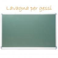 Lavagna Magnetica Verde per Gessi 60x90cm Cornice e Mensola in Alluminio - Wiler MCB6090A