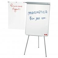 Lavagna Bianca Magnetica cm.70x100 - Gambe Telescopiche con Portablocco - 2607L