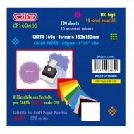 Carta Colorata 160g 152X152mm per fustelle centrino  - Wiler CP160A66