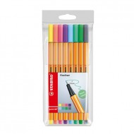 Stabilo Point 88 Fineliner astuccio 8 colori pastello assortiti - Stabilo 88/8-01