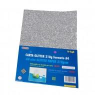 Carta Glitter 10 Fogli Argento - Wiler GLP10C01