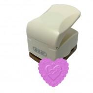 Fustella con effetto rilievo 32mm cuore love - Wiler CPE317