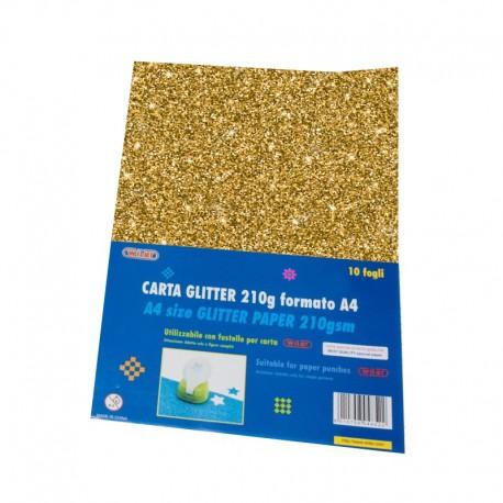 Carta Glitter 10 Fogli Oro - Wiler GLP10C02