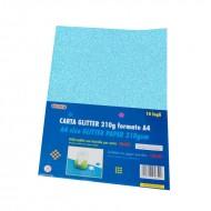 Carta Glitter 10 Fogli Azzurro - Wiler GLP10C11